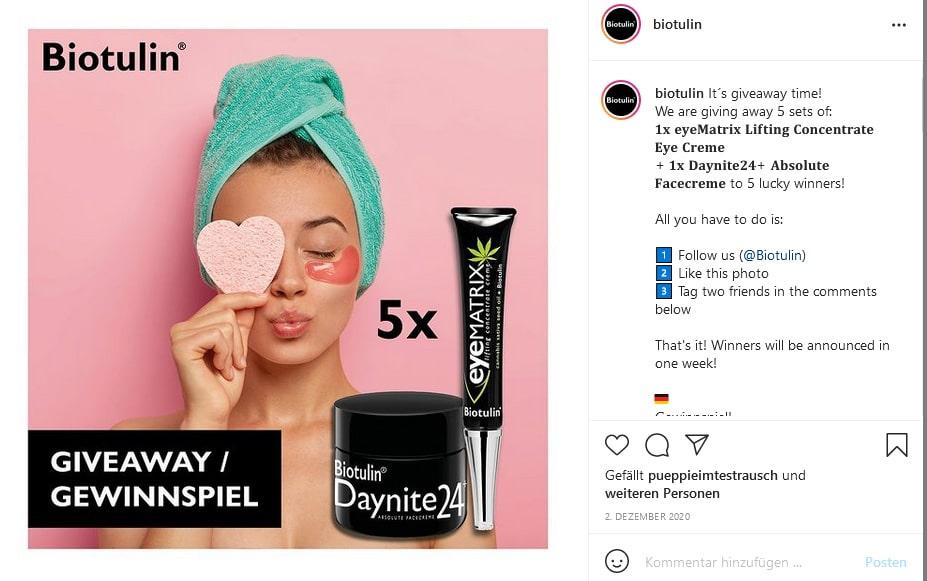 Kostenlose und günstige Werbemaßnahmen: Instagram Giveaway