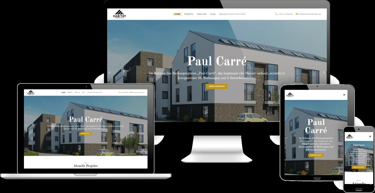 Webdesign Aachen: Habitat Wohnbau