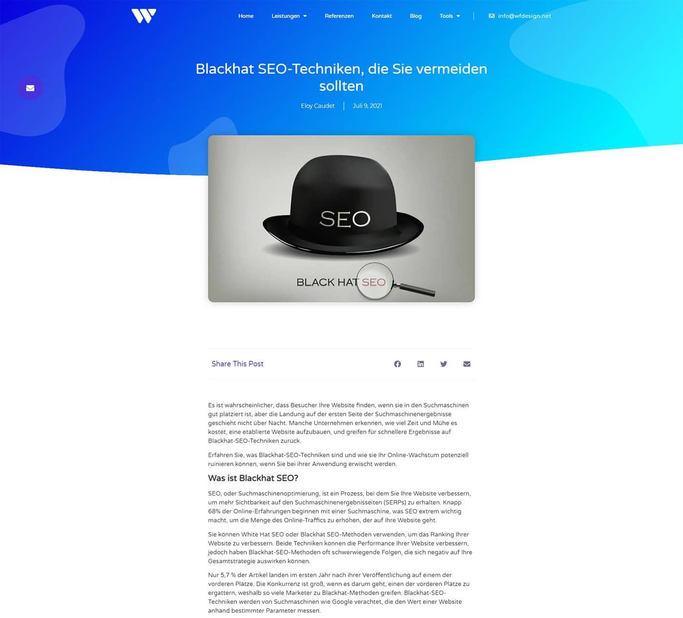 Beispiel für Content-Marketing für unsere Werbeagentur
