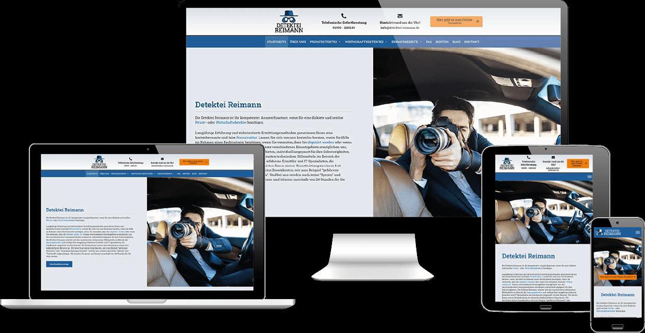 Detektei Reimann: Webdesign von wfDesign